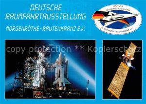 AK / Ansichtskarte Raumfahrt Space Shuttle Kennedy Space Center Kommunikationssatellit Olympus ESA  Kat. Flug