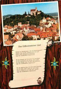 AK / Ansichtskarte Liederkarte Goessweinsteiner Lied Goessweinstein  Kat. Musik