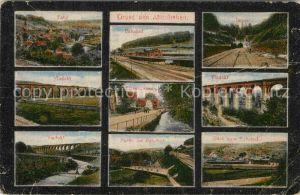AK / Ansichtskarte Altenbeken Panorama Bahnhof Tunnel Viadukt Strassenpartie  Kat. Altenbeken