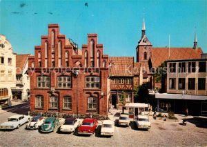 AK / Ansichtskarte Rendsburg Altstaedter Markt Altes Rathaus Marienkirche Kat. Rendsburg