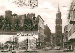 AK / Ansichtskarte Krefeld Dionysiuskirche Hauptzollamt Burg Linn Kat. Krefeld