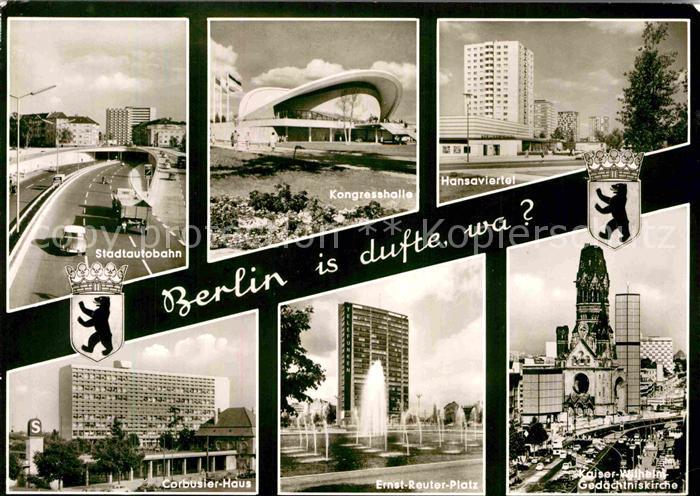 AK / Ansichtskarte Berlin Hansaviertel Stadtautobahn Corbusier Haus Kat. Berlin