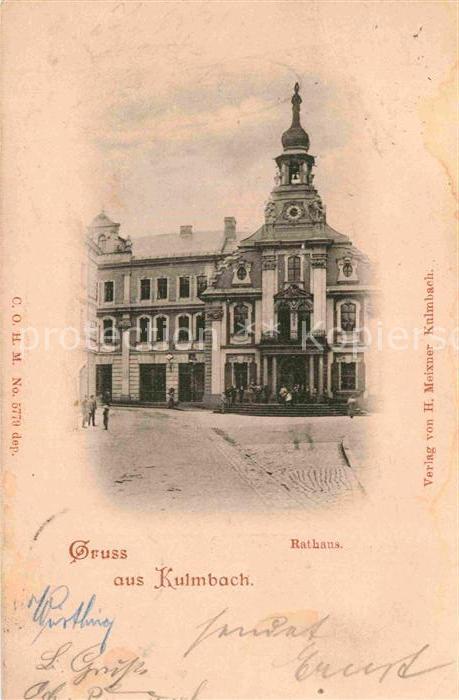 AK / Ansichtskarte Kulmbach Rathaus Kat. Kulmbach