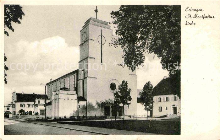 AK / Ansichtskarte Erlangen St. Bonifatiuskirche  Kat. Erlangen