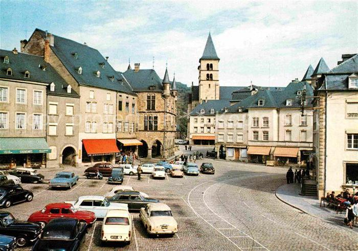 AK / Ansichtskarte Echternach Petite Suisse Luxembourgeoise Place du Marche Kat. Luxemburg