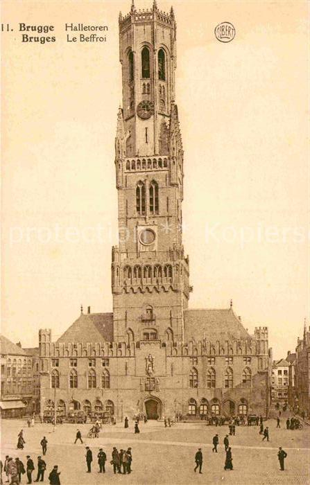 AK / Ansichtskarte Bruges Flandre Le Beffroi Glockenturm Kat.
