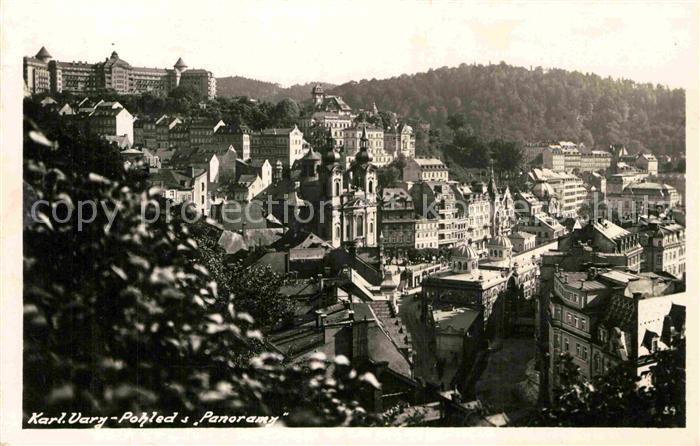 AK / Ansichtskarte Karlovy Vary Blick ueber die Stadt Kat. Karlovy Vary Karlsbad
