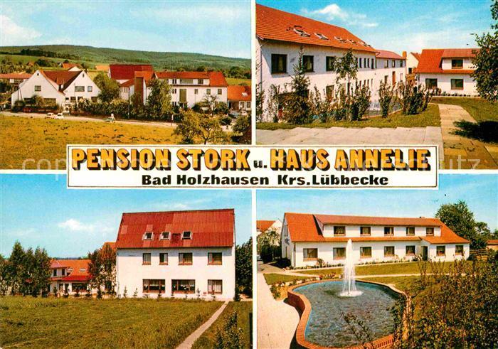 Ak Ansichtskarte Bad Holzhausen Luebbecke Pension Stork Und Haus