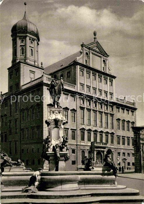 AK / Ansichtskarte Augsburg Augustusbrunnen Rathaus Kat. Augsburg