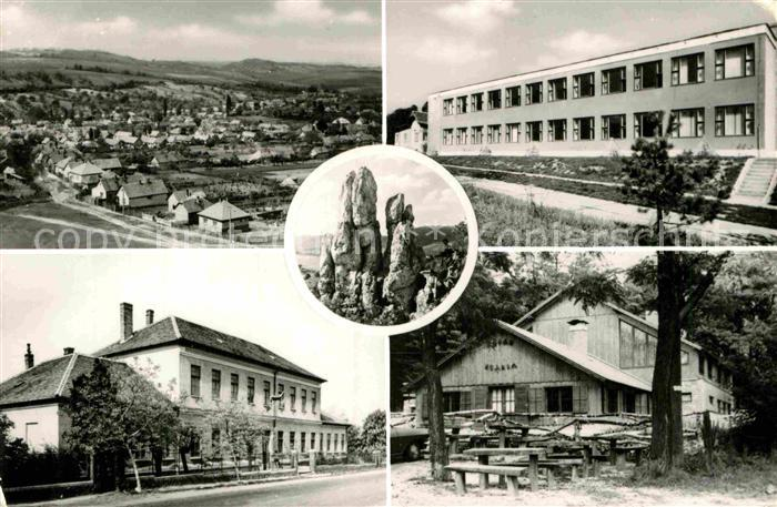 AK / Ansichtskarte Piliscsaba Teilansicht Schule Felsen