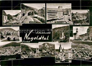 AK / Ansichtskarte Pforzheim und weitere Staedte im Nagoldtal Enztal Schwarzwald Bromsilber Kat. Pforzheim