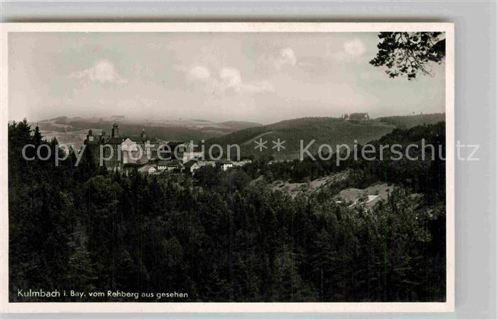 AK / Ansichtskarte Kulmbach Blick vom Rehberg Kat. Kulmbach