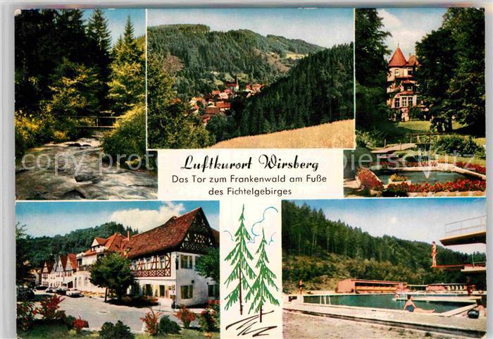 AK / Ansichtskarte Wirsberg Teilansichten Frankenwald Sanatorium Dorfstrasse Schwimmbad Kat. Wirsberg