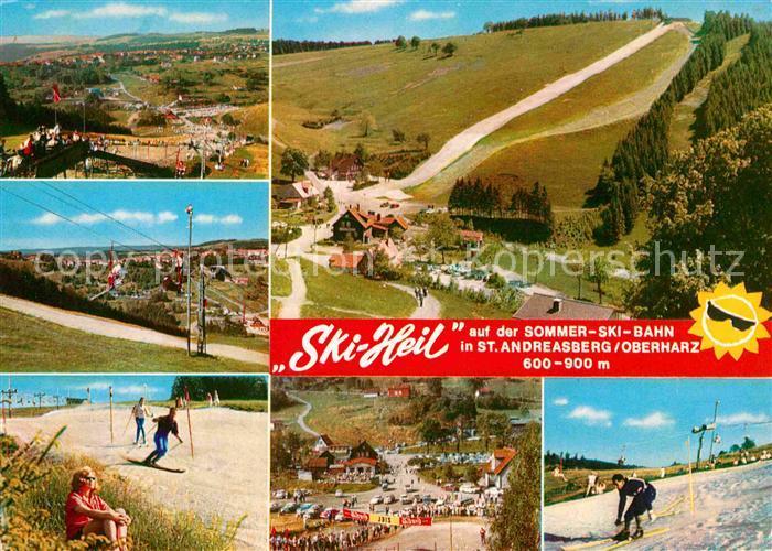 AK / Ansichtskarte St Andreasberg Harz Ski Heil Sommerskibahn Kat. Sankt Andreasberg