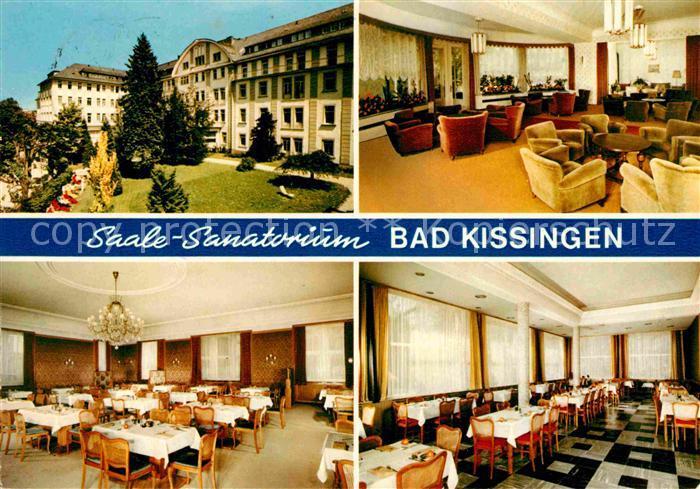 AK / Ansichtskarte Bad Kissingen Saale Sanatorium Aufenthaltsraum Speisesaal Kat. Bad Kissingen
