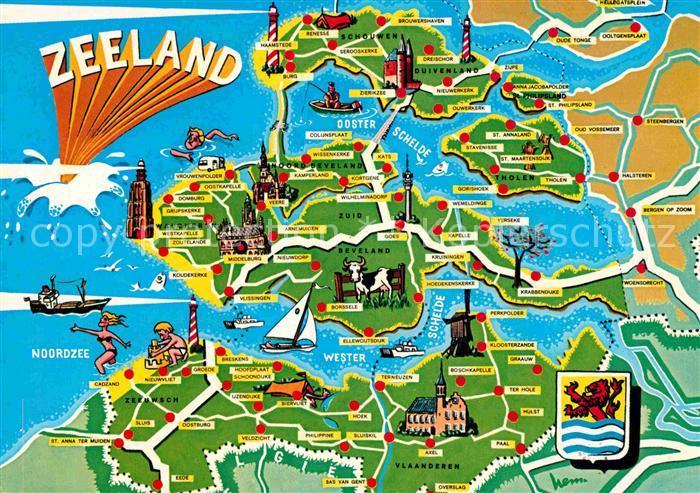 zeeland karte Karte Zeeland | Karte