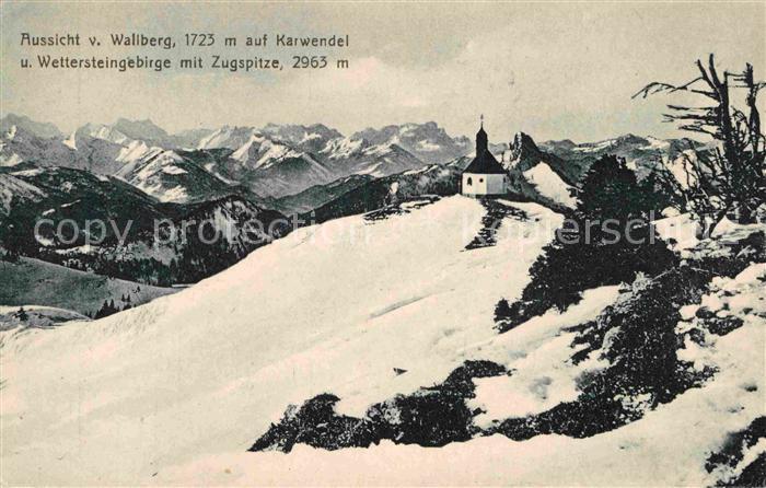 AK / Ansichtskarte Tegernsee Wallberg Karwendel Wetterstein Zugspitze Kat. Tegernsee