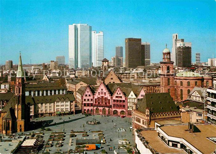 AK / Ansichtskarte Frankfurt Main Blick vom Dom auf Roemer Paulskirche und Nikolaikirche Kat. Frankfurt am Main
