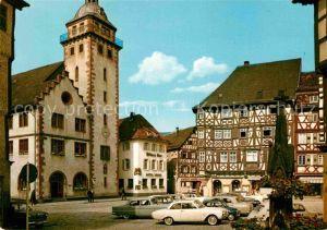 AK / Ansichtskarte Mosbach Baden Rathaus und Palmsches Haus Kat. Mosbach