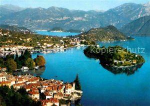 AK / Ansichtskarte Sala Comacina Fliegeraufnahme Lago di Como Kat. Como Lago di Como