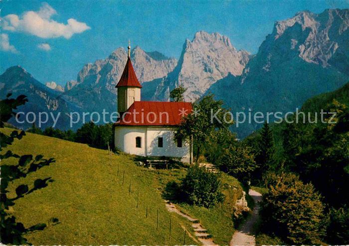 AK / Ansichtskarte Kaisertal Antoniuskapelle mit Ellmauer Halt Kat. Kufstein