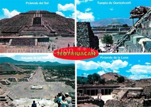AK / Ansichtskarte Teotihuacan Paramide del Sol Templo de Quetzalcoatl Kat. San Juan Teotihuacan Mexiko