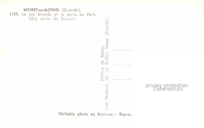 AK / Ansichtskarte Moret sur Loing Rue Grande Porte de Paris  Kat. Moret sur Loing 1