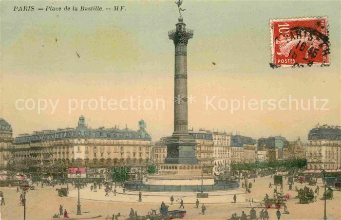 AK / Ansichtskarte Paris Place de la Bastille Kat. Paris