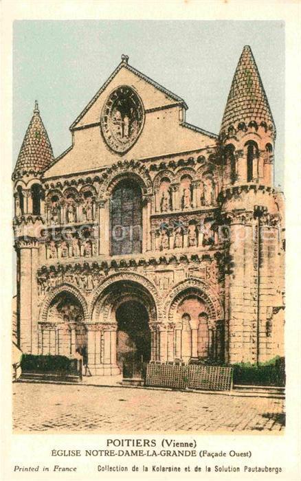 AK / Ansichtskarte Poitiers Vienne Eglise Notre Dame la Grande Kat. Poitiers
