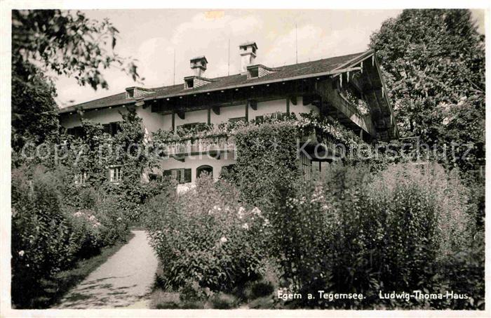 AK / Ansichtskarte Egern Tegernsee Ludwig Thoma Haus Kat. Rottach ...