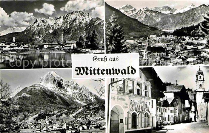 AK / Ansichtskarte Mittenwald Bayern Cafe Konditorei Ortsansichten  Kat. Mittenwald