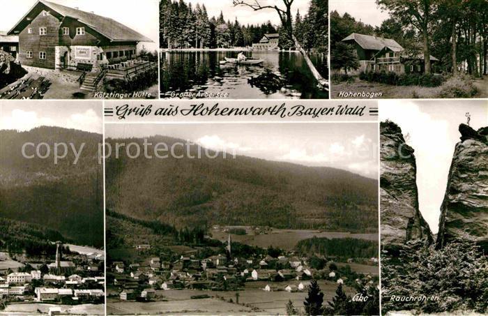 AK / Ansichtskarte Hohenwarth Koetzting Koetztinger Huette Hohenbogen Rauchroehren  Kat. Hohenwarth