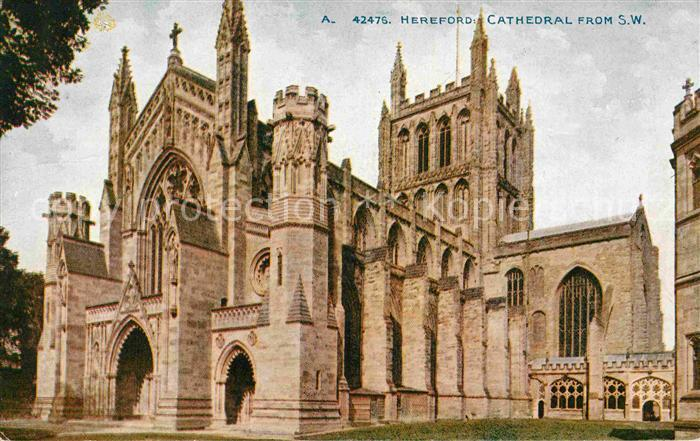 AK / Ansichtskarte Hereford UK Cathedral From S.W. 0
