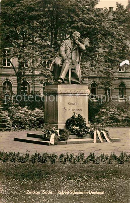 AK / Ansichtskarte Zwickau Sachsen Robert Schumann Denkmal Kat. Zwickau