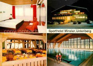 AK / Ansichtskarte Unteriberg Sporthotel Minster mit Sportzentrum Hallenbad Restaurant Kat. Unteriberg