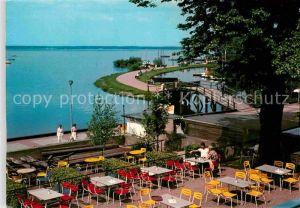 AK / Ansichtskarte Steinhude Meer Blick vom Strandhotel auf die Promenade Steinhuder Meer