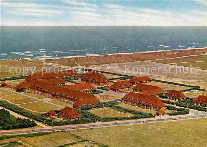 AK / Ansichtskarte Westerland Sylt Nordsee Sanatorium Fliegeraufnahme Kat. Westerland