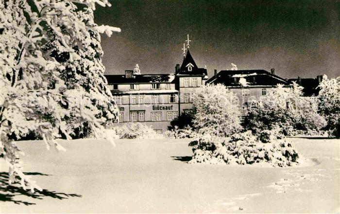 AK / Ansichtskarte Oberhof Thueringen Erholungsheim Glueck auf im Winter Kat. Oberhof Thueringen