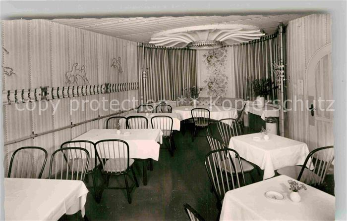 AK / Ansichtskarte Schwenningen Neckar Hotel Roessle Gastraum Kat. Villingen Schwenningen