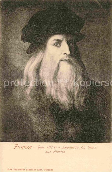 AK / Ansichtskarte Leonardo Da Vinci Autoritratto Selbstportraeit Kat. Persoenlichkeiten