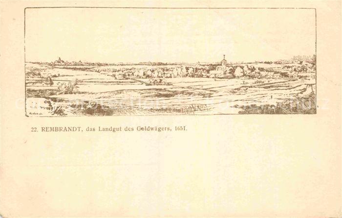 AK / Ansichtskarte Rembrandt Landgut des Goldwaegers 1651 Kat. Persoenlichkeiten