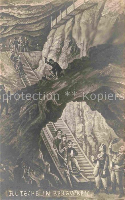 AK / Ansichtskarte Bergwerk Rutsche  Kat. Rohstoffe Commodities