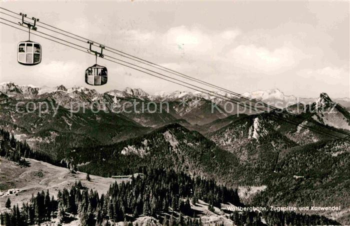 AK / Ansichtskarte Seilbahn Wallberg Zugspitze Karwendel  Kat. Bahnen
