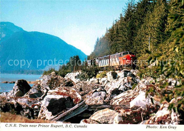 AK / Ansichtskarte Eisenbahn C.N.R. Train Prince Rupert B.C. Canada  Kat. Eisenbahn