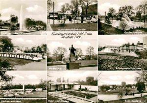 AK / Ansichtskarte Bundesgartenschau Essen Gruga Park Rundbahn Bahnhof Gruga Bahn Kranichwiese  Kat. Expositions