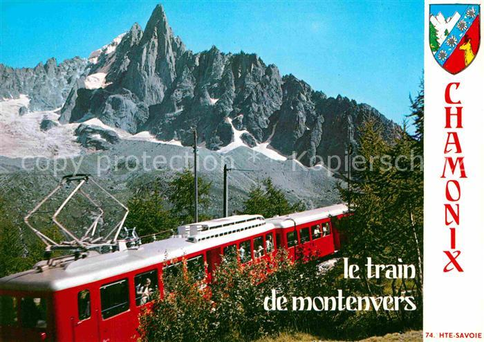 AK / Ansichtskarte Eisenbahn Petit Train Montenvers Dru Chamonix  Kat. Eisenbahn