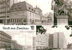AK / Ansichtskarte Zwickau Sachsen Schuhmann Haus Neubaugebiet Zwickau Planitz Studenten Internat Kat. Zwickau