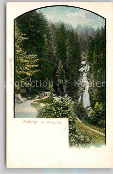 AK / Ansichtskarte Triberg Schwarzwald Wasserfall Kat. Triberg im Schwarzwald