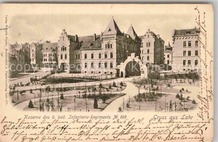 AK / Ansichtskarte Lahr Schwarzwald Kaserne des Infanterie Regiments No 169 Kat. Lahr