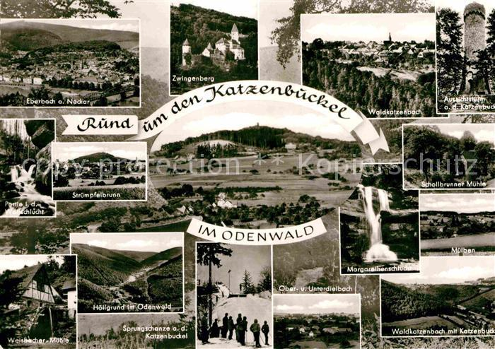 AK / Ansichtskarte Odenwald Eberbach Zwingenberg Waldkatzenbach Aussichtsturm Schanze